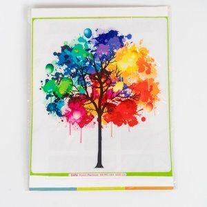 NWT Rainbow Tree With Colour Splats Laptop Skin